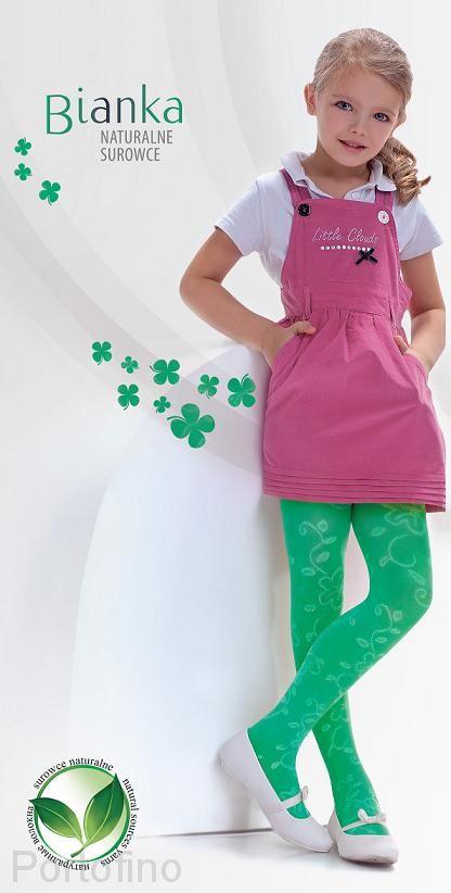 Bianka вискозные колготки с узором для девочек . Knittex