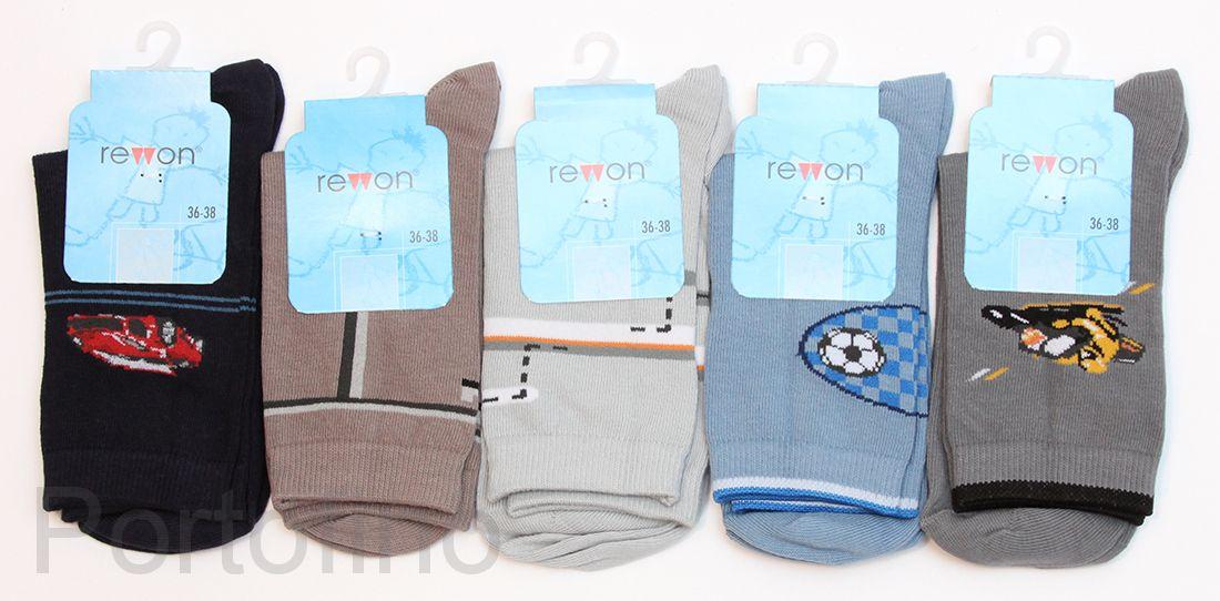 101-002 B  Размер  27-29 (17-18 см )  Носочки для мальчиков  с компьютерным рисунком Rewon (Польша)