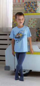 501-004B (104/110) Колготки детские с компьютерным рисунком для мальчиков Rewon (Польша)