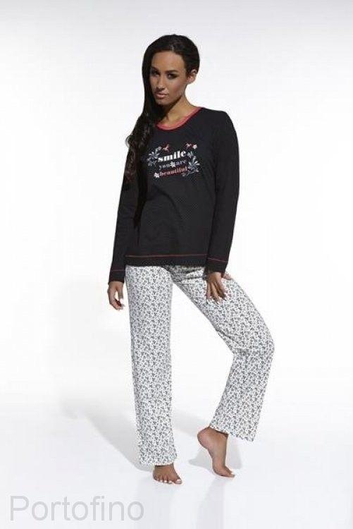 655/17 женская пижама с длинным рукавом и брюками Cornette