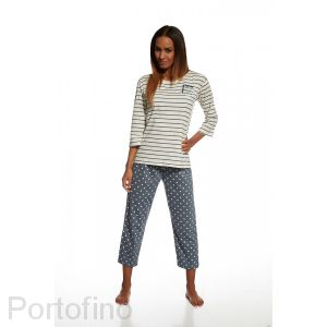 602-106 женская пижама футболка и брюки Cornette