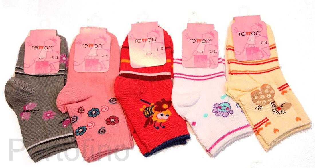 101-002 Размер 21-23 (13-14 см ) Носочки для девочек  с компьютерным рисунком Rewon (Польша)