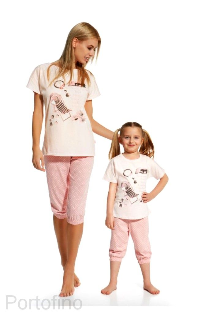638-72 женская пижама футболка и бриджи Cornette
