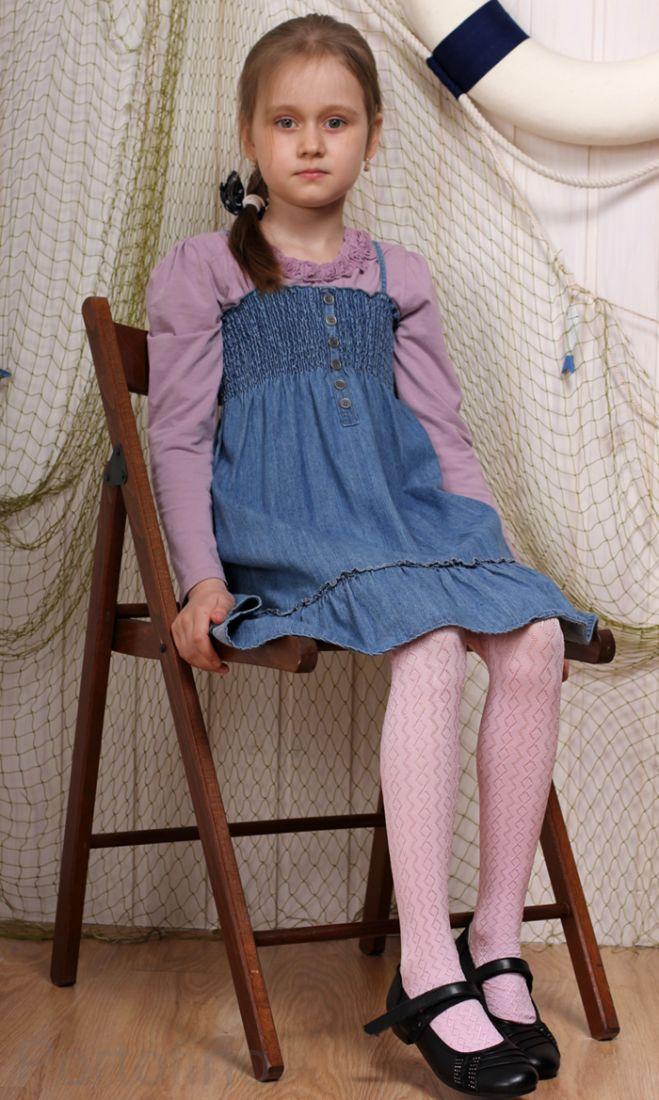 Lidka Knittex колготки узорчатые для девочек из микроволокна. 40 Den